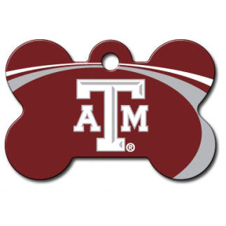 Texas A&M Aggies NCAA Custom Engraved Dog ID Tag - Bone