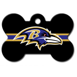 Baltimore Ravens NFL Custom Engraved Dog ID Tag - Bone