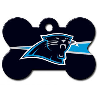 Carolina Panthers NFL Custom Engraved Dog ID Tag - Bone