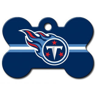 Tennessee Titans NFL Custom Engraved Dog ID Tag - Bone