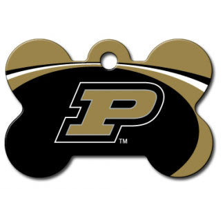 Purdue Boilermakers NCAA Custom Engraved Dog ID Tag - Bone