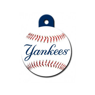 New York Yankees MLB Custom Engraved Dog ID Tag - Round