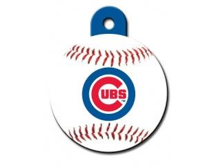 Chicago Cubs MLB Custom Engraved Dog ID Tag - Round