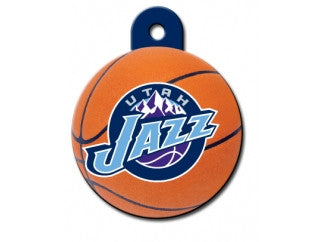 Utah Jazz NBA Custom Engraved Dog ID Tag - Round