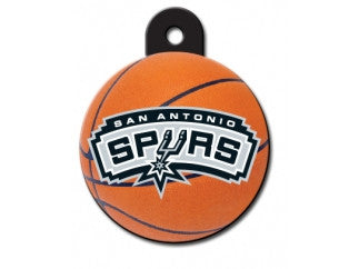 San Antonio Spurs NBA Custom Engraved Dog ID Tag - Round