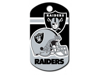 Oakland Raiders NFL Custom Engraved Dog ID Tag - Military Style