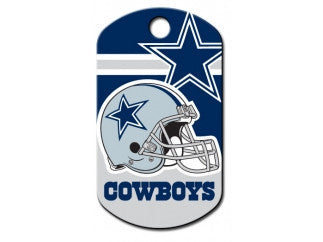 Dallas Cowboys NFL Custom Engraved Dog ID Tag - Military Style