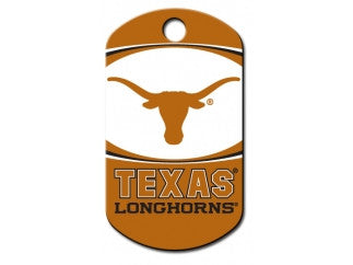 Texas Longhorns NCAA Custom Engraved Dog ID Tag - Military Style