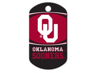 Oklahoma Sooners NCAA Custom Engraved Dog ID Tag - Military Style