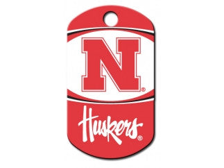 Nebraska Corn Huskers NCAA Custom Engraved Dog ID Tag - Military Style
