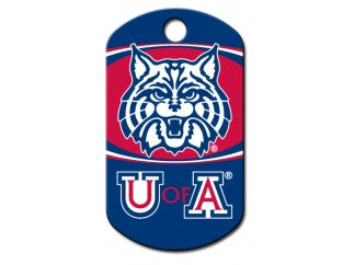 Arizona Wildcat Custom Engraved Dog ID Tag - Military Style