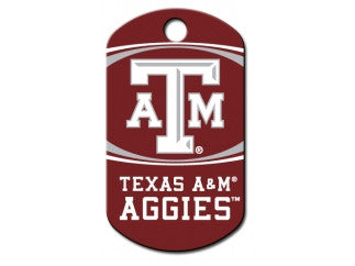 Texas A&M NCAA Custom Engraved Dog ID Tag - Military Style
