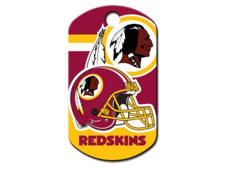 Washington Redskins NFL Custom Engraved Dog ID Tag - Military Style
