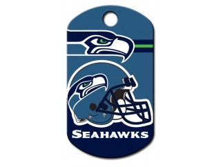 Seattle Seahawks NFL Custom Engraved Dog ID Tag - Military Style