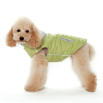 City Puffer Dog Coat - Green
