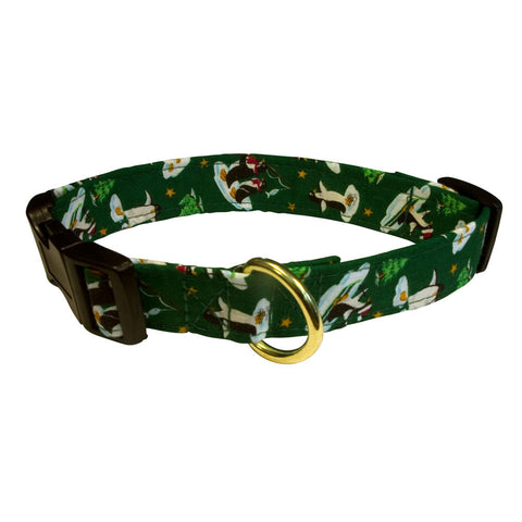 Elmo's Closet Penguins On Winter Vacation Dog Collar