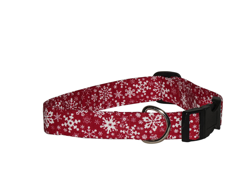 Elmou0027s Closet Snowstorm Dog Collar   Red
