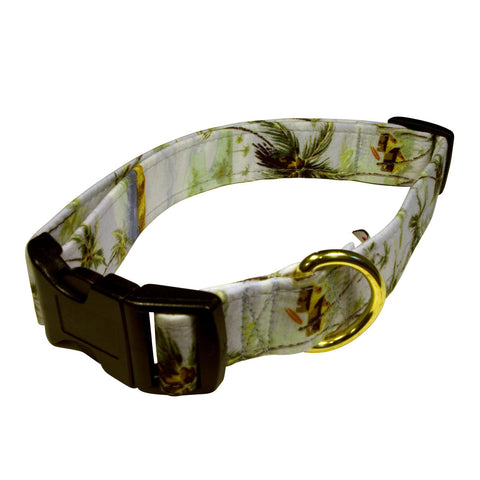 Elmo's Closet Island Palms Dog Collar