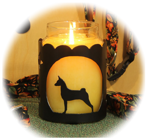 Basenji Dog Breed Jar Candle Holder