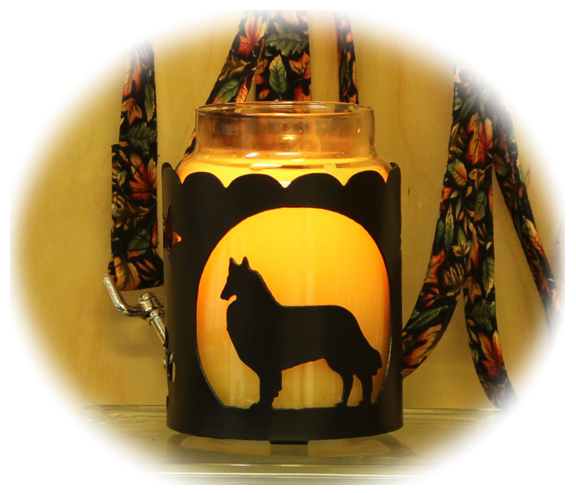 Belgian Malinois Dog Breed Jar Candle Holder