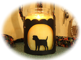 Border Terrier Dog Breed Jar Candle Holder