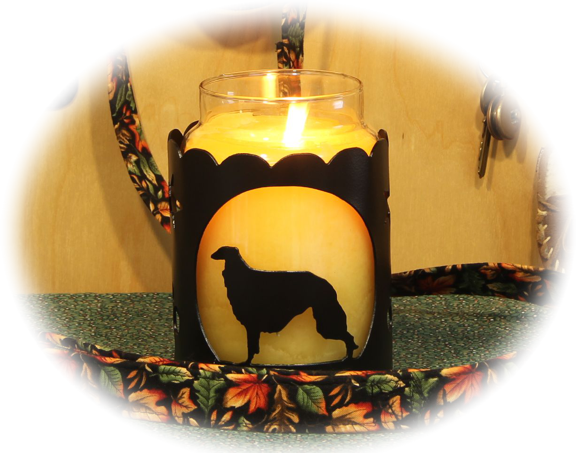 Borzoi  Dog Breed Jar Candle Holder