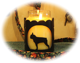 Boston Terrier Dog Breed Jar Candle Holder