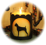 Boxer Cropped Dog Breed Jar Candle Holder
