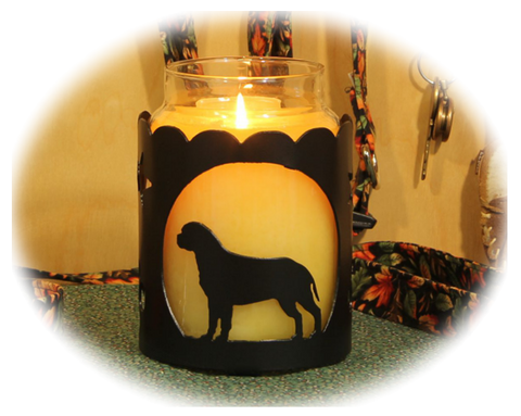 Bullmastiff Dog Breed Jar Candle Holder