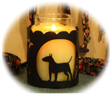 Bull Terrier Dog Breed Jar Candle Holder