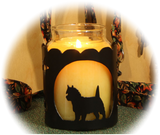 Cairn Terrier Dog Breed Jar Candle Holder