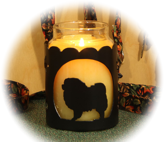 Chow Chow Dog Breed Jar Candle Holder