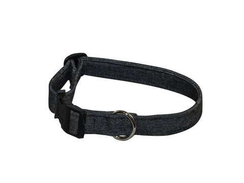 Elmo's Closet Black Jeans Dog Collar