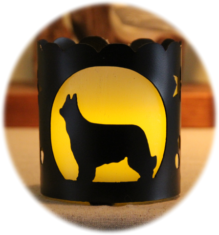 Briard Dog Breed Candle Holder