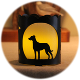 Catahoula Dog Breed Jar Candle Holder