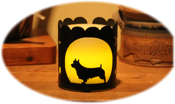 Australian Terrier Dog Breed Jar Candle Holder