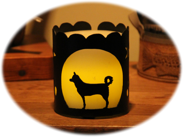 Canaan Dog Breed Jar Candle Holder