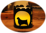 Clumber Spaniel Dog Breed Jar Candle Holder