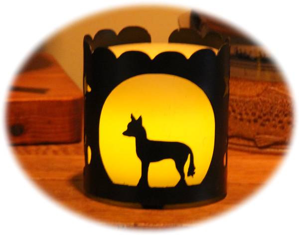 Chinese Crested Dog Breed Jar Candle Holder