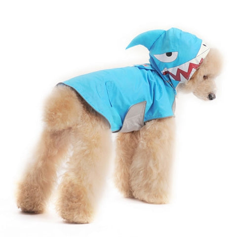 Shark Raincoat for Dogs