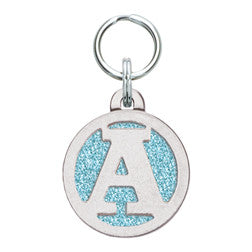 Rockin' Doggie Color Sparkle Initial Dog Tag - Letter A