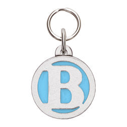 Rockin' Doggie Color Initial Dog Tag - Letter B
