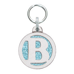 Rockin' Doggie Color Sparkle Initial Dog Tag - Letter B