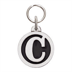 Rockin' Doggie Color Initial Dog Tag - Letter C
