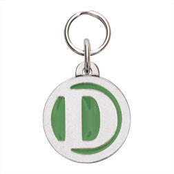 Rockin' Doggie Color Initial Dog Tag - Letter D
