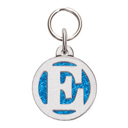 Rockin' Doggie Color Sparkle Initial Dog Tag - Letter E