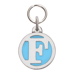 Rockin' Doggie Color Initial Dog Tag - Letter F