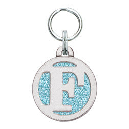 Rockin' Doggie Color Sparkle Initial Dog Tag - Letter F