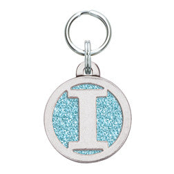 Rockin' Doggie Color Sparkle Initial Dog Tag - Letter I