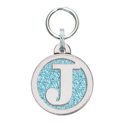 Rockin' Doggie Color Sparkle Initial Dog Tag - Letter J